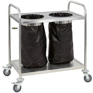 équipements collectivités-chariot inox