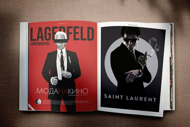 Karl Lagerfeld and Yves Saint Laurent »Fashion as Art«