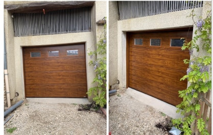 Porte de garage hublots