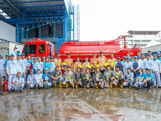 ฝึกซ้อมดับเพลิงขั้นต้นให้แก่พนักงานใหม่ประจำปี2563