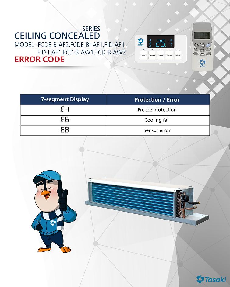 error code ceiling conceal FCDE-B-AF2,FCDE-BI-AF1,FID-AF1,FID-I-AF1,FCD-B-AW1,FCD-B-AW2.pn