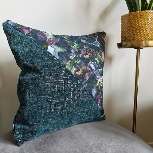 Triangle Cushion - Wattle & Slate x Agate & Ayre