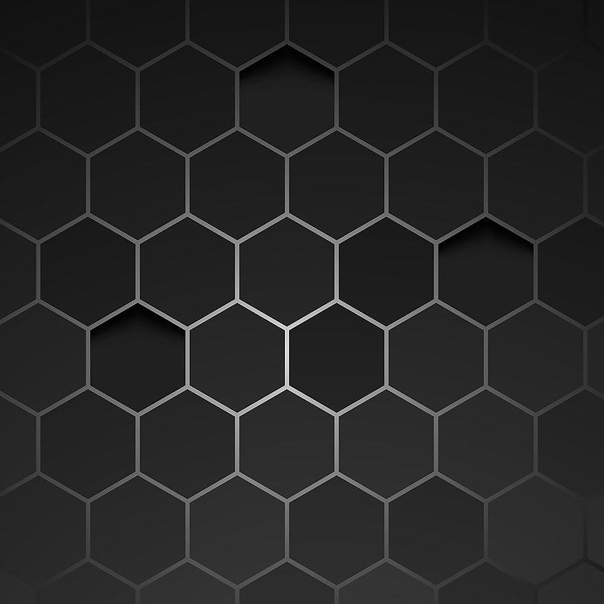 abstract-black-background-hexagon-vector