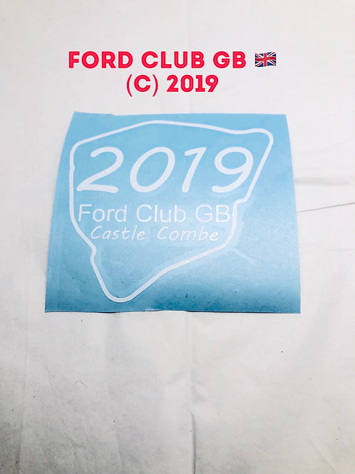 Ford Club GB castle combe   decal 2019