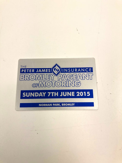 Bromley Pageant 2015 Show Plaques