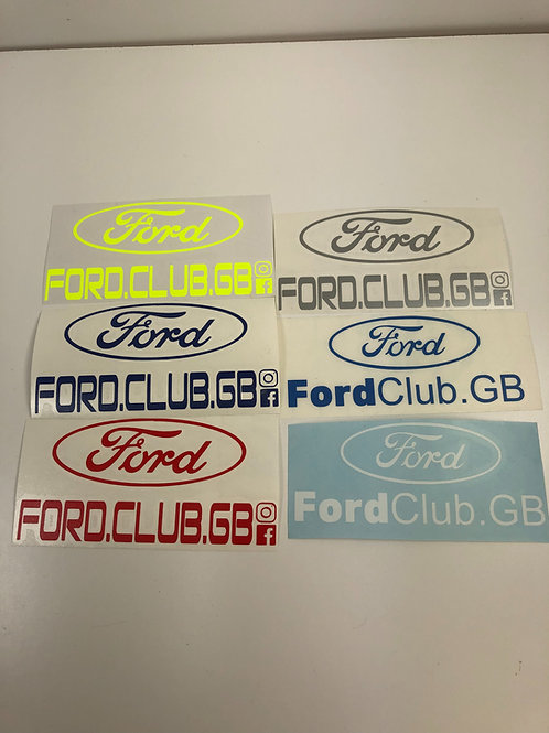 5inch. Ford club gb 🇬🇧 external decal