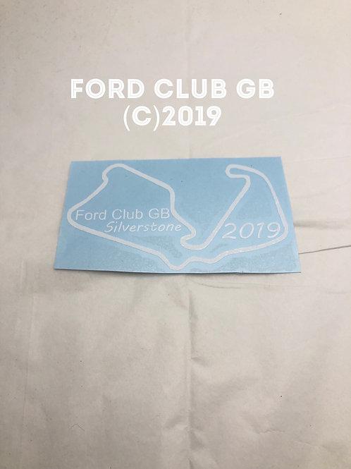 Ford club GB 🇬🇧 Silverstone  Sticker 2019