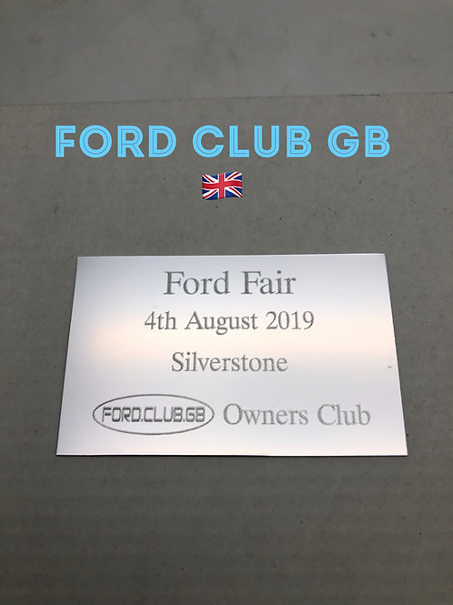 Ford Club GB 🇬🇧Ford Fair Club Plaque 2019
