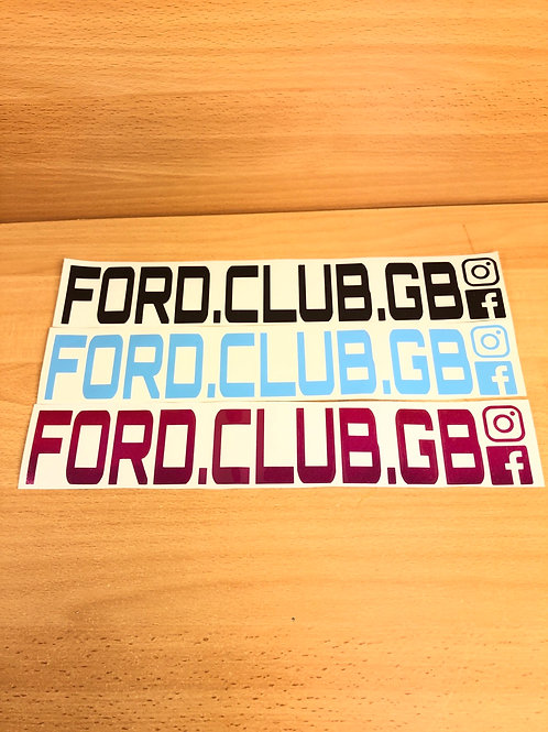 Ford club gb 🇬🇧 decals 30xcmsx 5Cms Approx external
