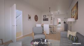 Visualisatie interieur woonhuis