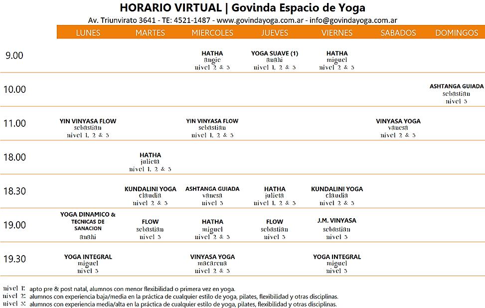 Horario Virtual
