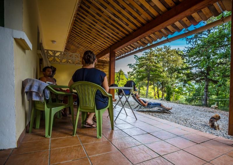 Une terrasse extérieure privative