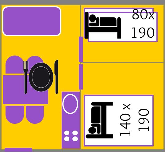 Plan des chalets Tilleul