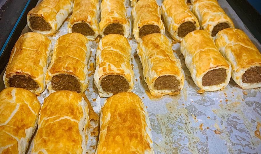 100% Australian beef sausage rolls 2020.