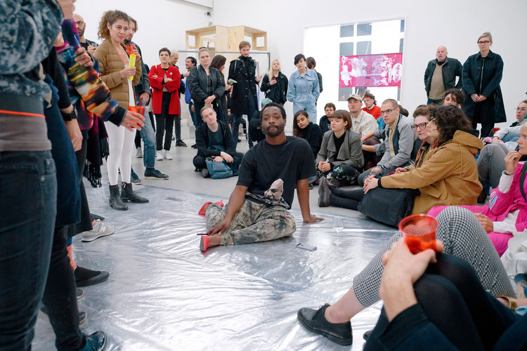this is a performance. you are a community. you are my material. this is a prison. leave when you want, keyon gaskin, photo by Thomas Lenden