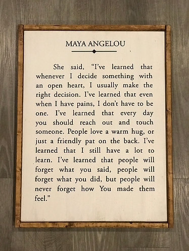 Maya Angelou Quote Framed
