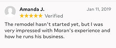very impressed with Moran's experience