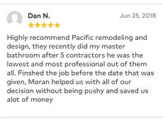 highly recommend pacific remodeling and design
