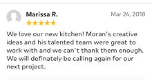 we love our new kitchen and Moran's creative ideas and his talented team