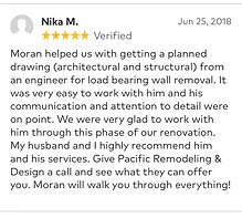 We were very glad to work with him through this phase of our renovation and my husband and i highly