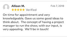 on time for appointment and very knowledgeable