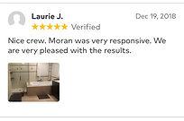 Nice crew and Moran was very responsive