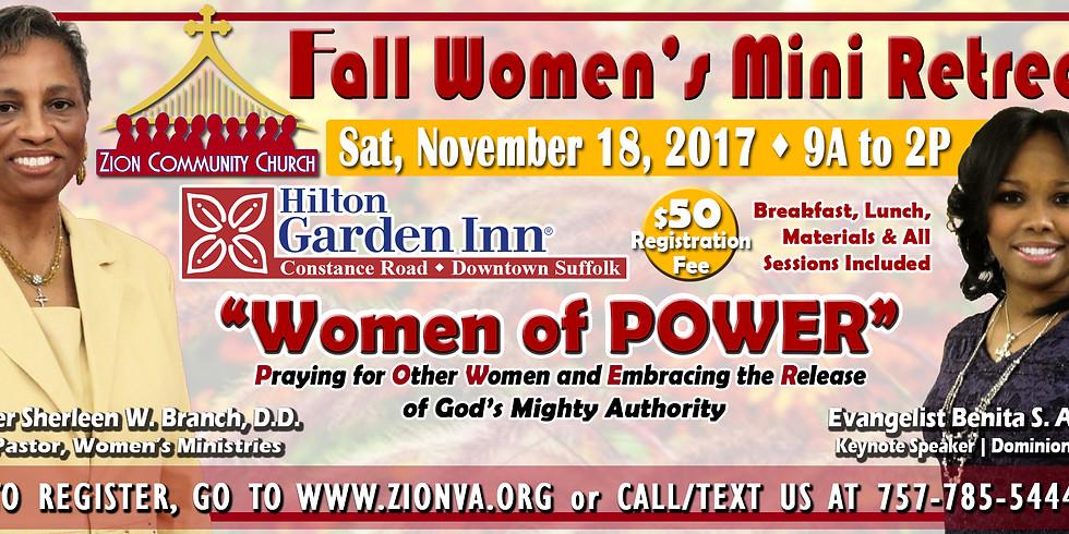 Fall Women's Mini Retreat