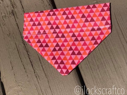 Pink Triangle Over The Collar Bandana