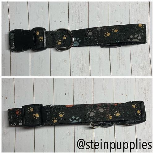Black Rustic Paw Collar