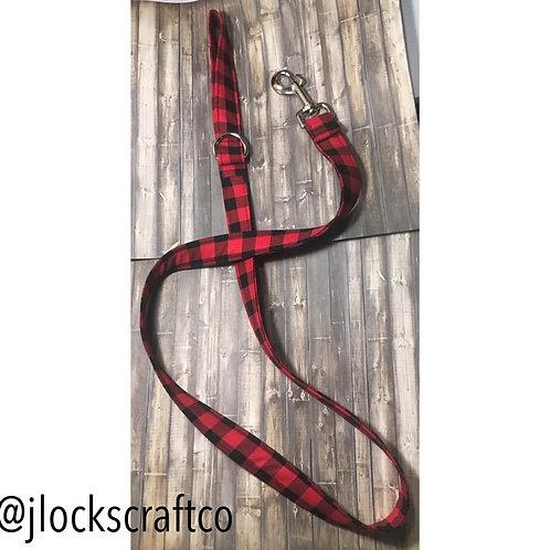 Black & Red Buffalo Plaid Leash