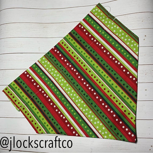 Red & Green Over The Collar Bandana
