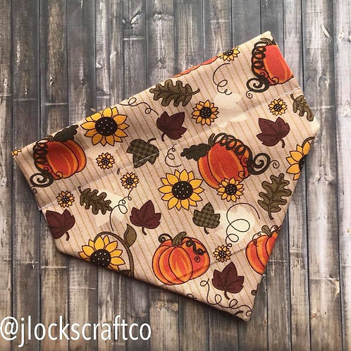 Pumpkin & Sunflower Over The Collar Bandana