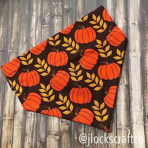 Pumpkin & Wheat Over The Collar Bandana