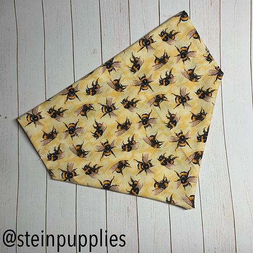 Yellow Bee Over The Collar Bandana