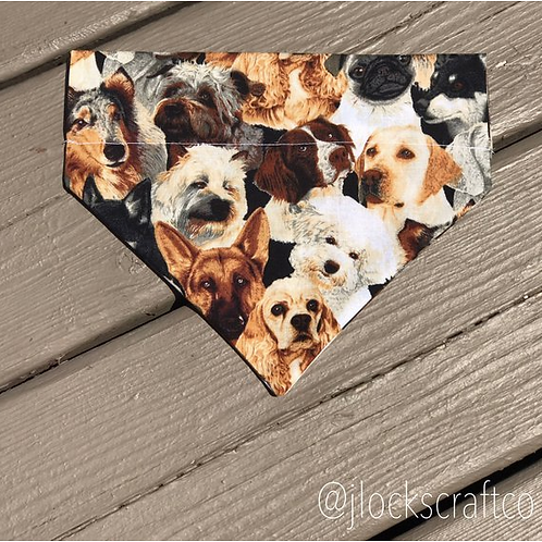 Dog Print Over The Collar Bandana