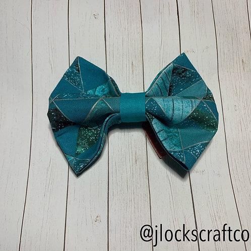 Blue Geometric Bow