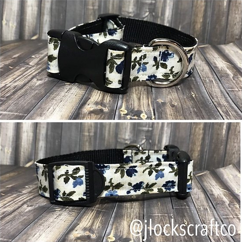 Blue Watercolor Floral Collar