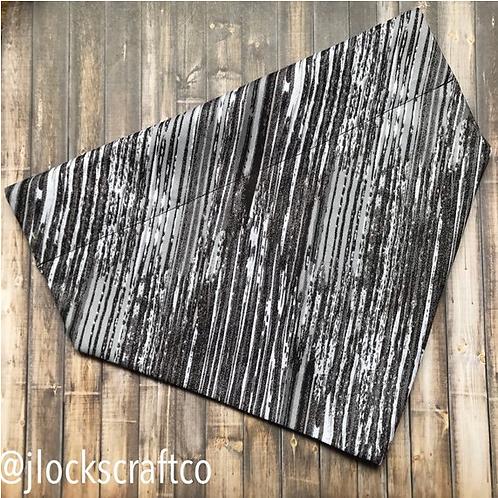 Black & Gray Smeared Over The Collar Bandana
