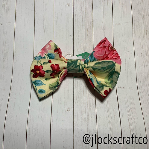 Light Yellow Floral Bow