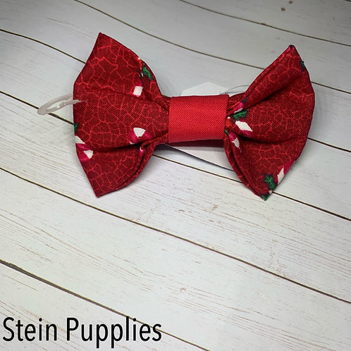 Red Candy Cane Bow