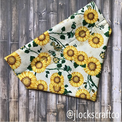 Sunflower Over The Collar Bandana
