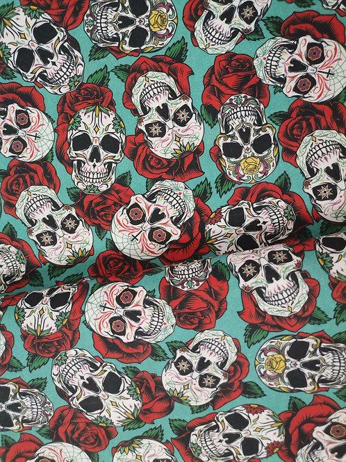 Algodón Skulls&RedRoses
