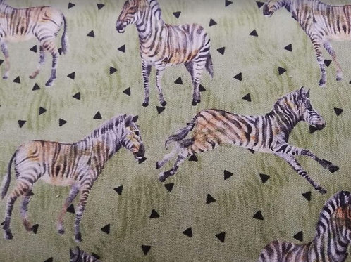 Algodón 100% Zebras