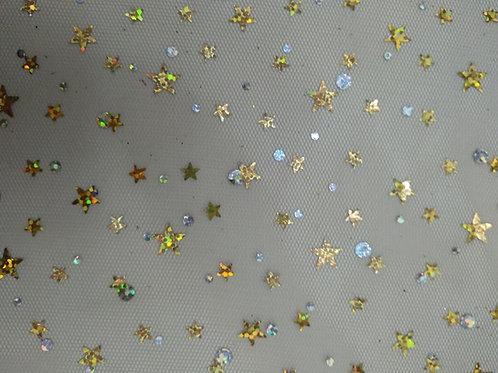Tul Glitter estrellas