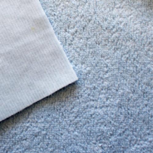 Rizo algodón plastificado por una cara - celeste