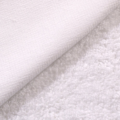 Rizo algodón plastificado por una cara - blanco