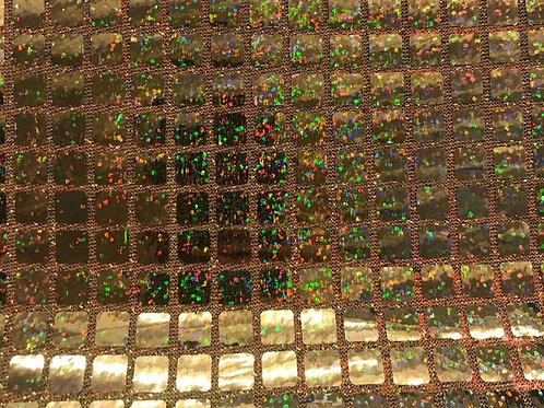 Tela Lycra Glitter Dorada