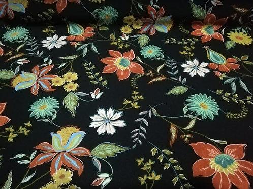 Crepe Flores Multicolor