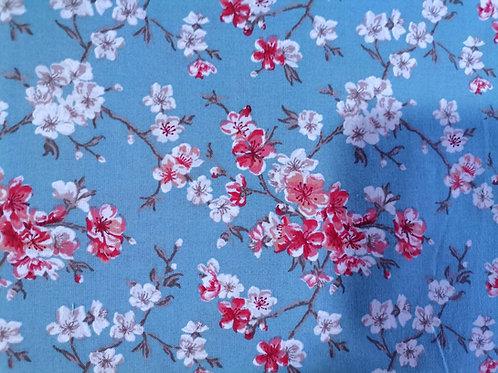 Algodón Sakura turquesa