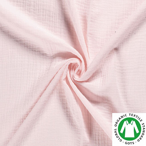 Muselina color rosa palo